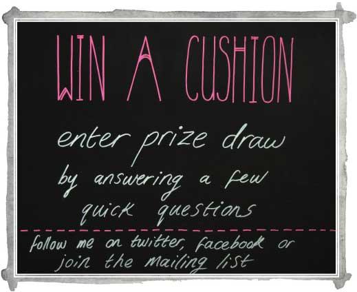 Sneak Peek: win a designer cushion!