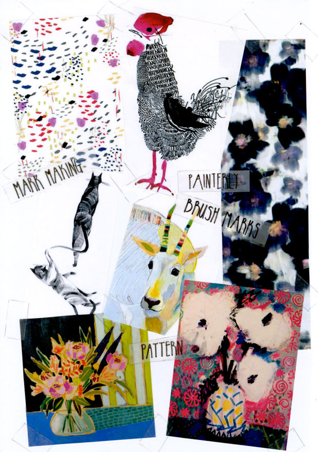 Loving Now: Painterly Brush Marks & Pattern