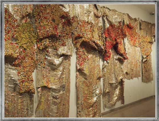 Gravity and Grace - El Anatsui, at the Brooklyn Museum