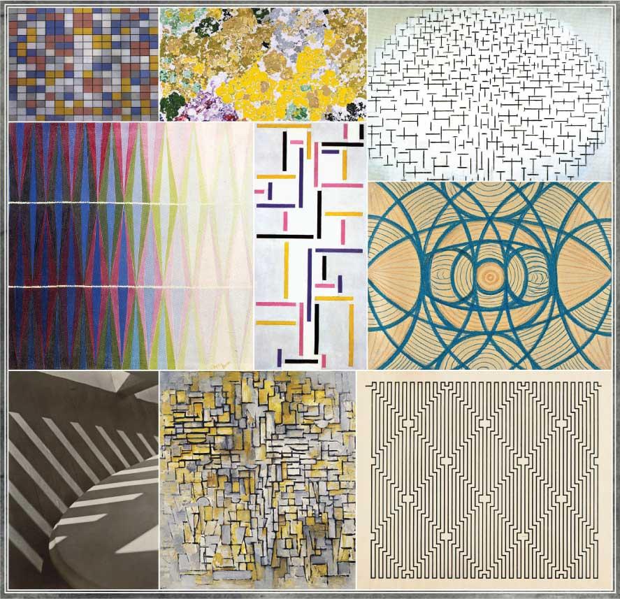 Piet Mondrian,  Augusto Giacometti, Vaslaw Nijinsky, Waclaw Szpakowski, Theo Van Doesburg, Giacomo Balla, Paul Strand