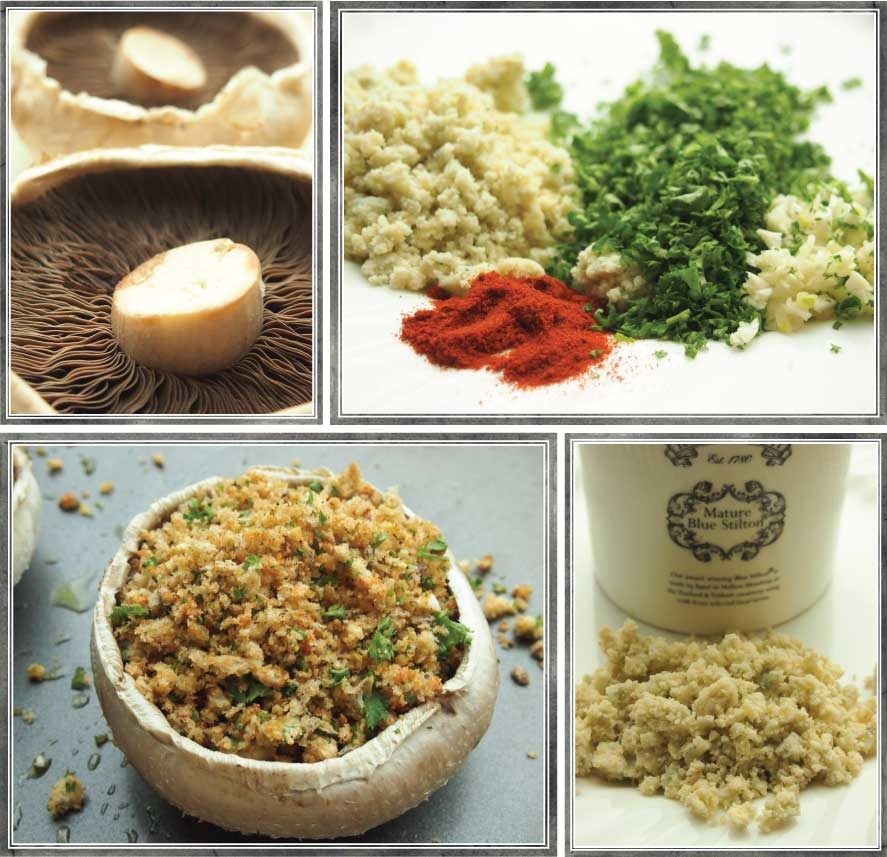 ingredients for stuffed mushrooms
