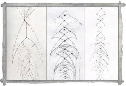Discovered Again: Line Drawings of Arches
