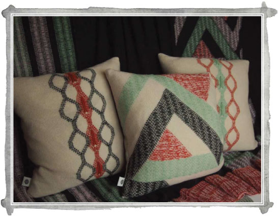 Nuba - a collection of knitted cushions and throws