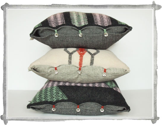 Kate Mawby's knitted cushions