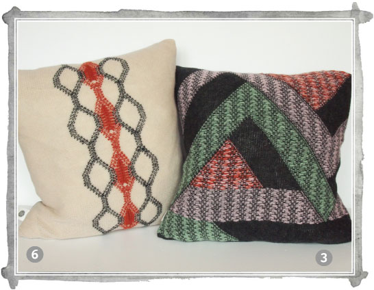 Kate Mawby's knitted cushions on display at the Startup Showcase