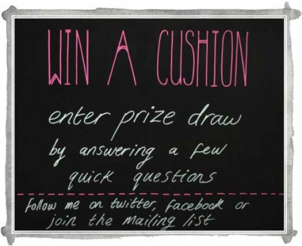 Sneak Peek: win a designer cushion!