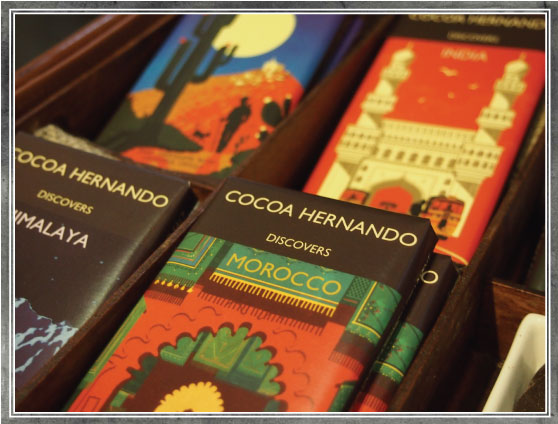 Cocoa Hernando - unusual chocolate flavours inspired by Mexico, Morocco, Himalaya and India