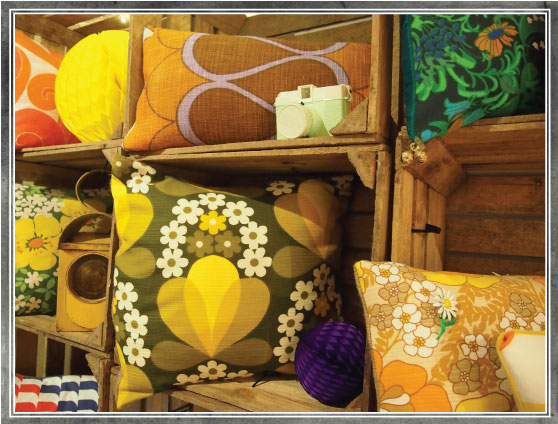 Slouch - cushions made from vintage fabrics