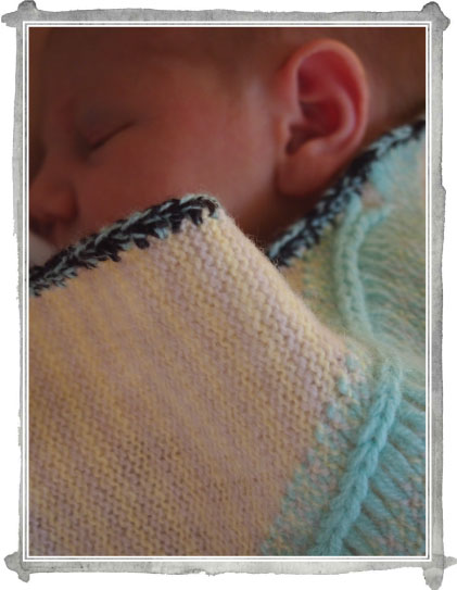 Kate Mawby knitted baby blanket