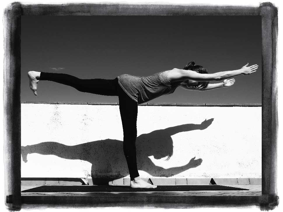 Kate Mawby yoga pose Virabhadrasana 3 (Warrior 3)