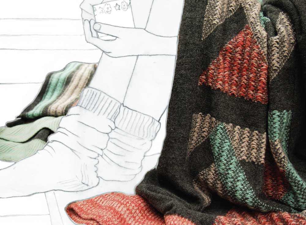 Kate Mawby - baby alpaca knit blankets made in Peru
