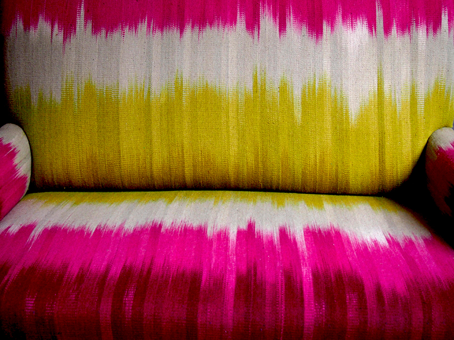 Colourfield sofa by Ptolemy Mann and Rugmaker