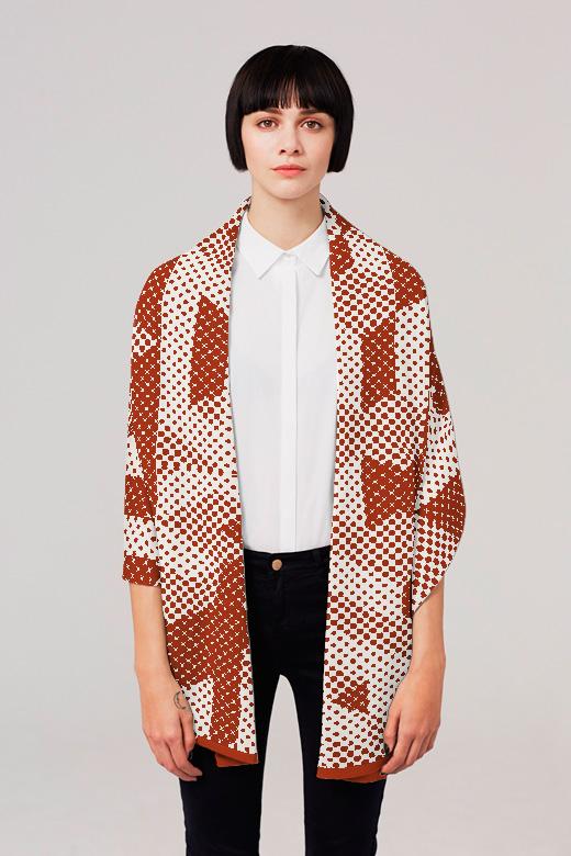 Knyttan knitted blanket scarf