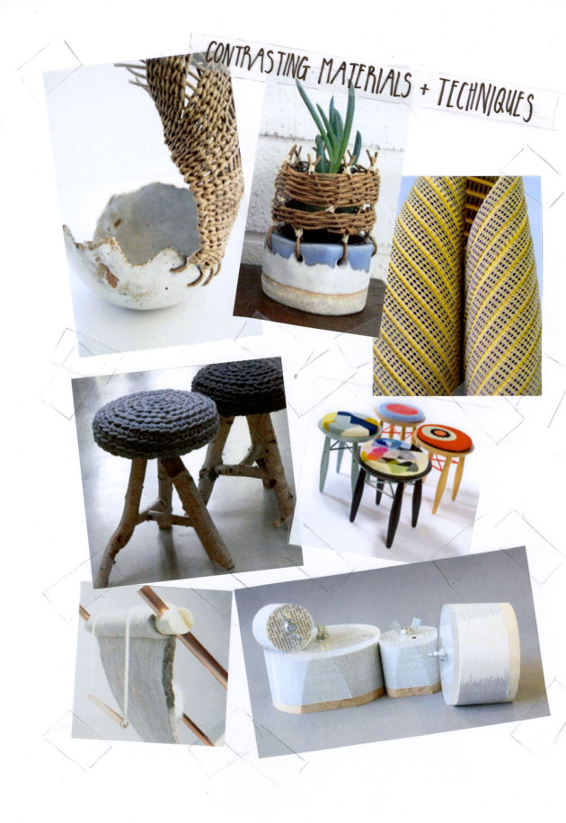 Loving Now: Contrasting Materials & Techniques