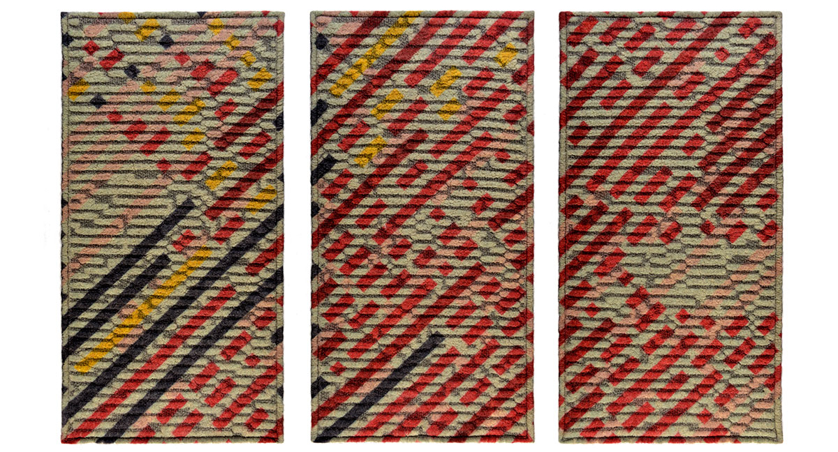Kate Mawby Knitted Textile Wall Panels for Interiors